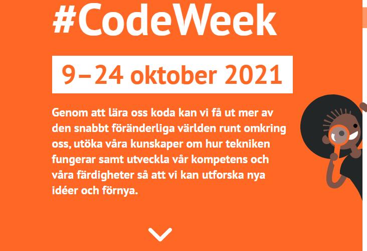 Logtyp för EU Code week.