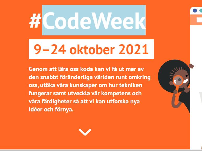 Logotyp för EU Code week.