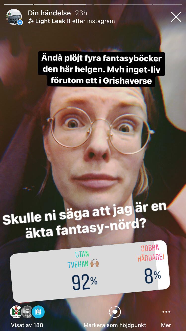 Linnea undrar om hon är en fantasynörd