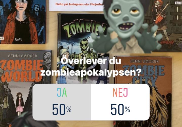Omröstning om zombieapokalypsen i sociala medier.